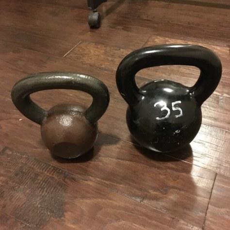 CAP 9kg and 16kg kettlebells