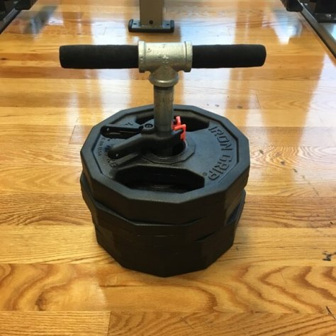 DIY T-bar with weight plates