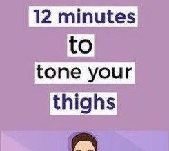 12 Minute Workout To Tone Thighs And Burn Fat Easily