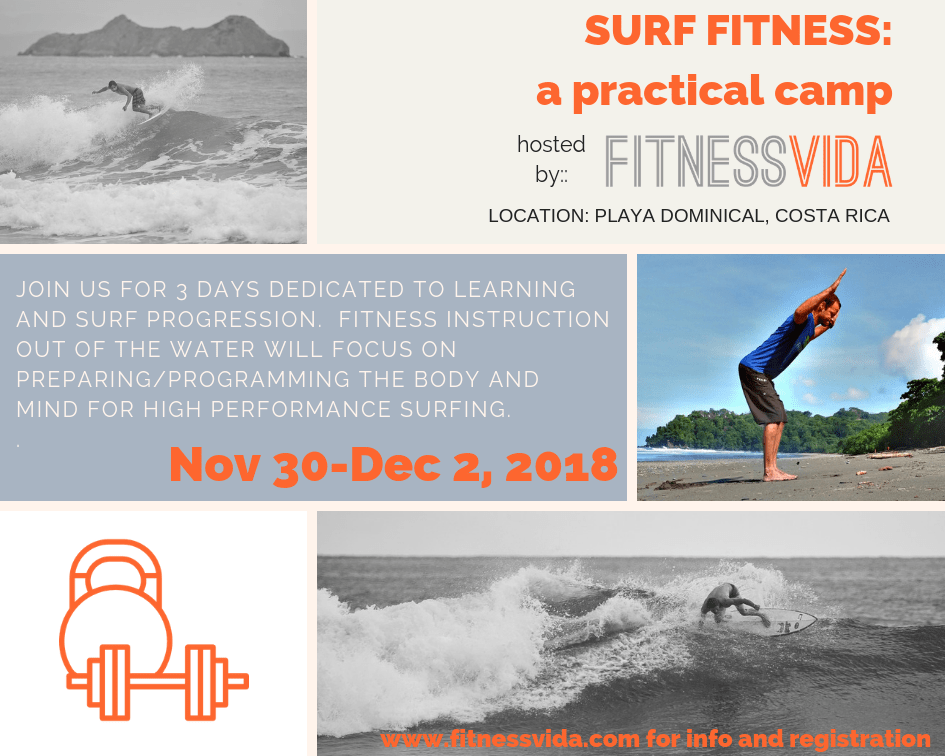 fitness vida surf fitness camp playa dominical costa rica