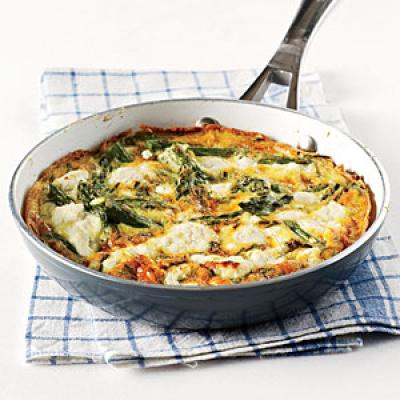 Herby Frittata with Vegetable & Goat's Cheese - Cooking Light