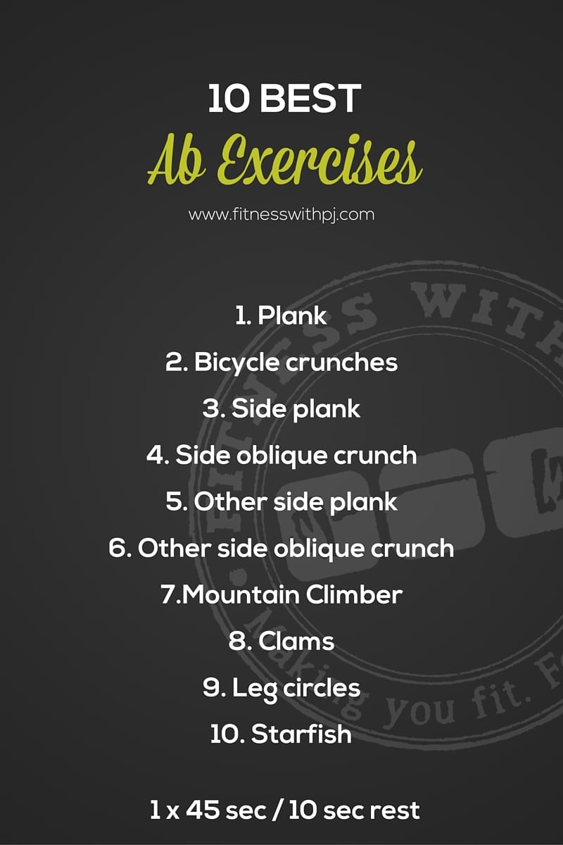 10 Best Ab Exercises Workout - full workout Fitness with PJ