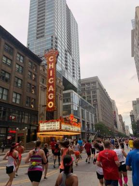 Chicago sign during the Rock N Roll half marathon.