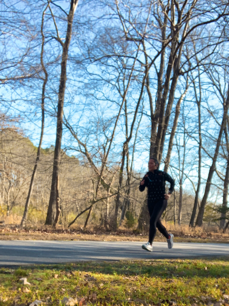 A cold winter day running on the Neuse River Greenway in Raleigh, NC.