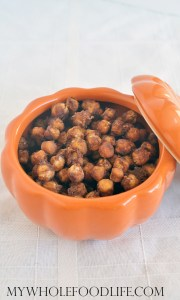 Pumpkin Spice Roasted Chickpeas My Whole Food Life fall recipes