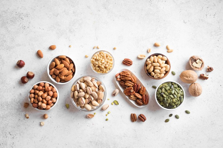 Fiber rich nuts and seeds