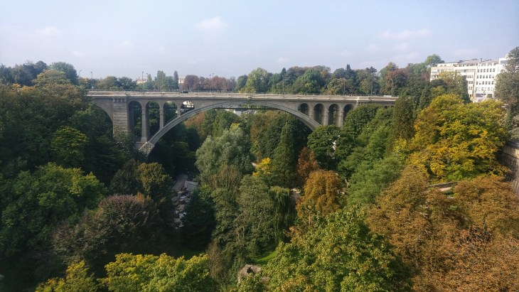 Petrusse Park in the Alzette Valley in Luxemourg City has some really great running paths
