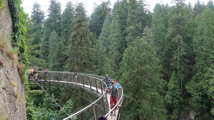 Fit on your trip to Vancouver Top 5 fit things to do - Capilano Suspension Bridge and Cliff Walk