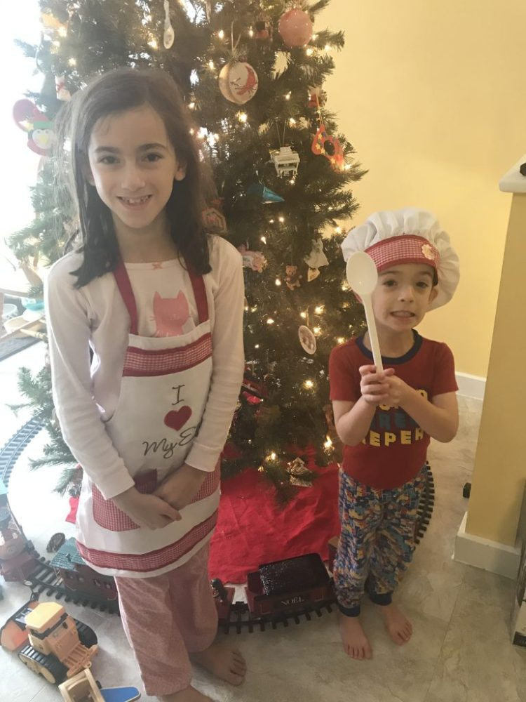 lucia and christopher ready to bake
