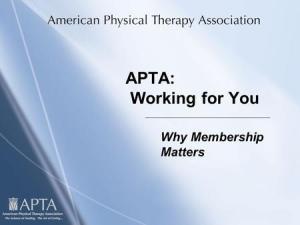 APTA Membership Benefits