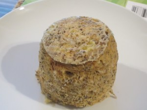 Grain Free Peanut Butter Banana Microwave Muffin