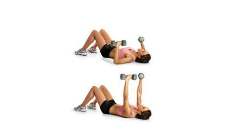 DUMBBELL CHEST PRESS ON FLOOR