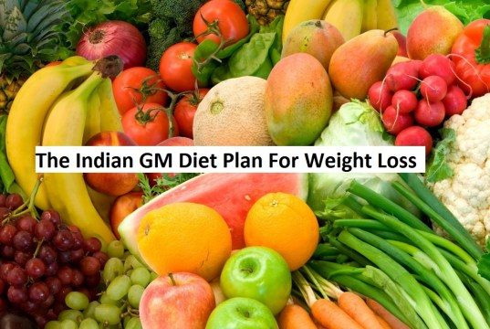 The Indian GM Diet Plan For Weight Loss