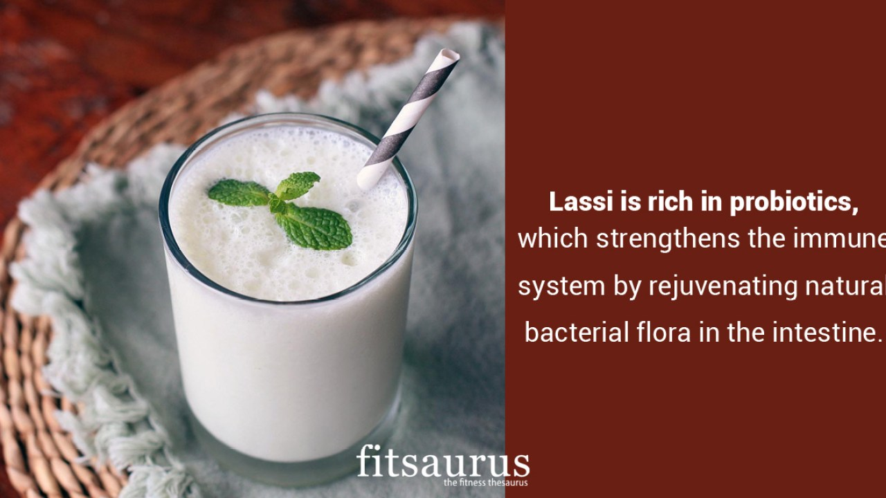 how many calories are there in lassi & does it have any