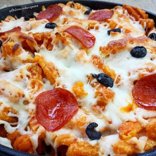 Pizza Sweet Potato Skillet Fries