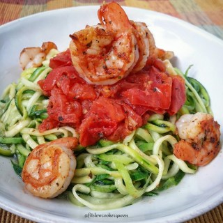 Easy Zoodles with Shrimp