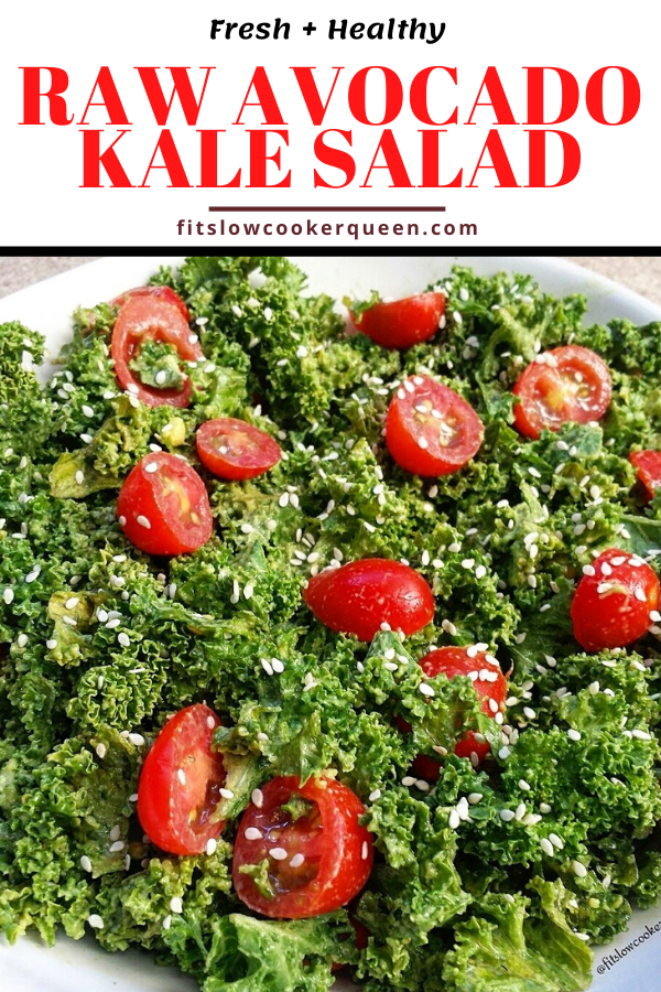 Raw Avocado Kale Salad