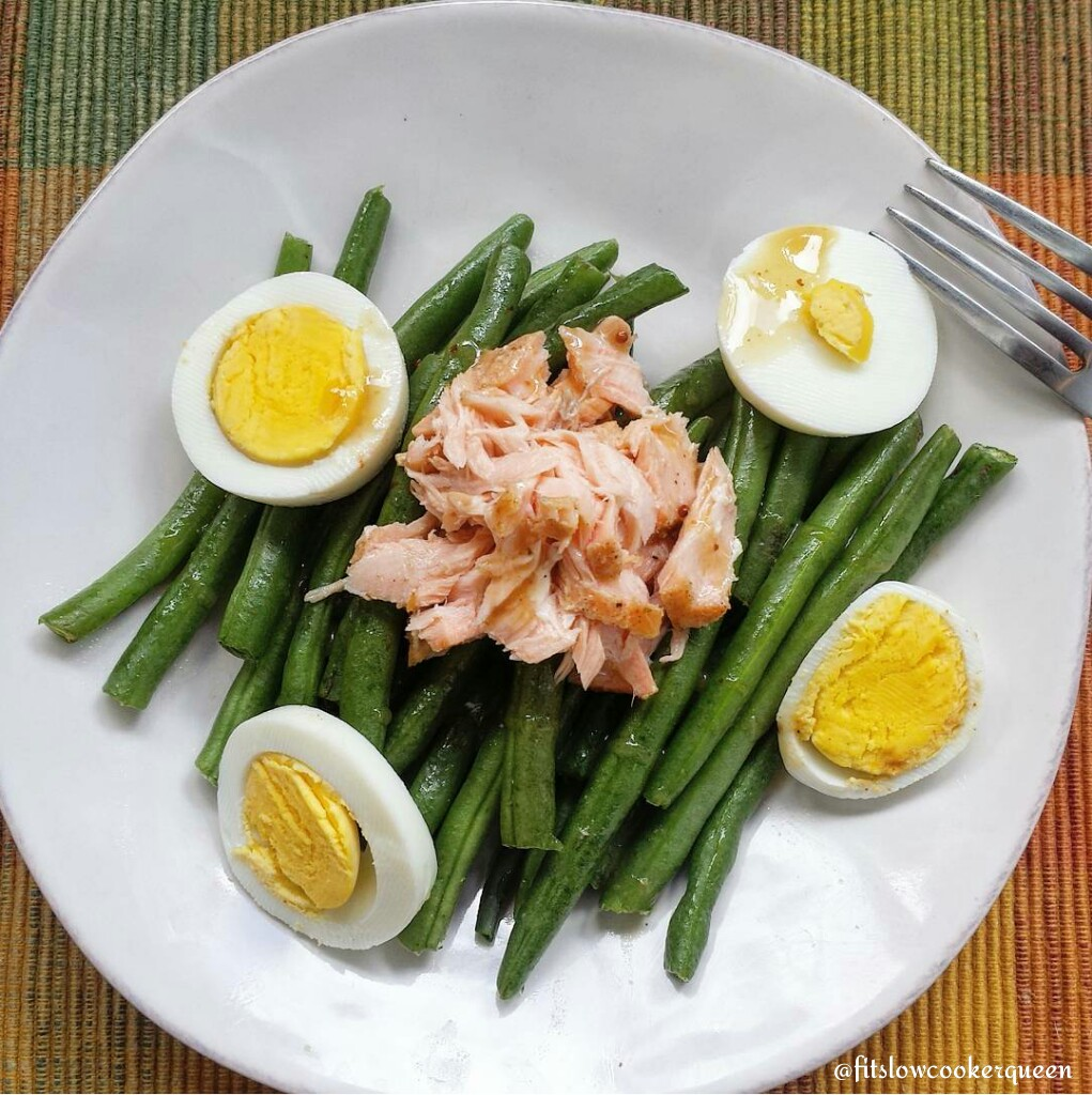 Salmon, Egg and Green Bean Salad w/Dijon Vinaigrette