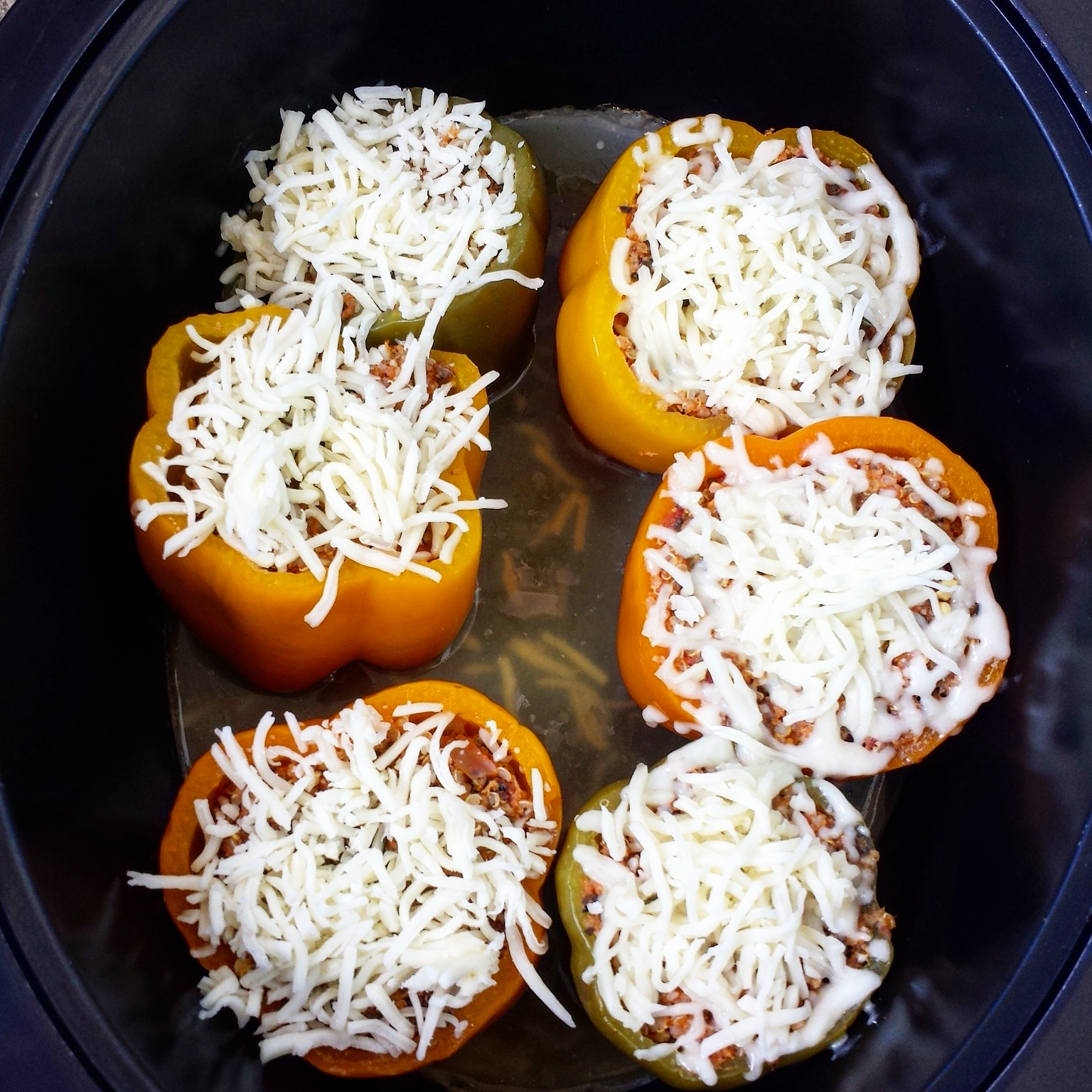 Farmer John Slow Cooker Pork Stuffed Peppers