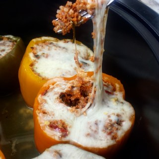 Slow Cooker Pork Stuffed Peppers