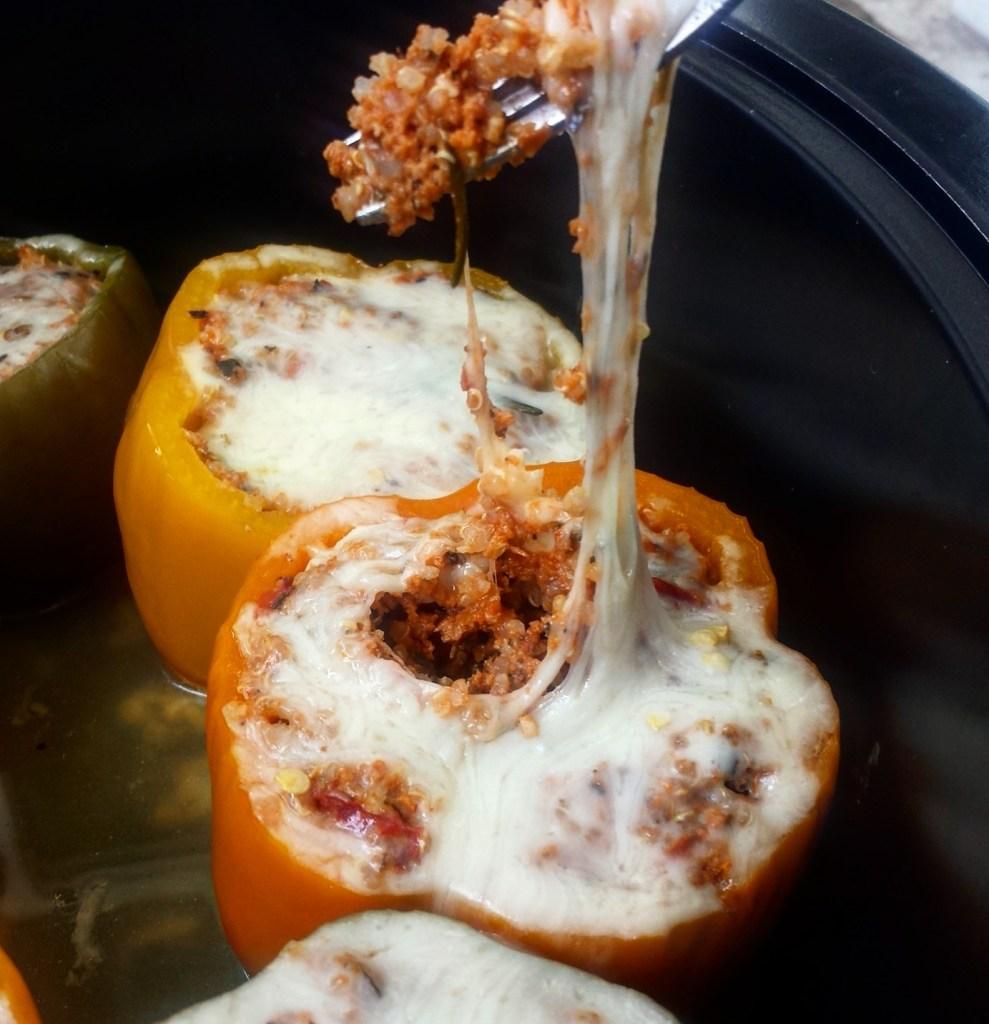 Farmer John Slow Cooker Pork Stuffed Peppers