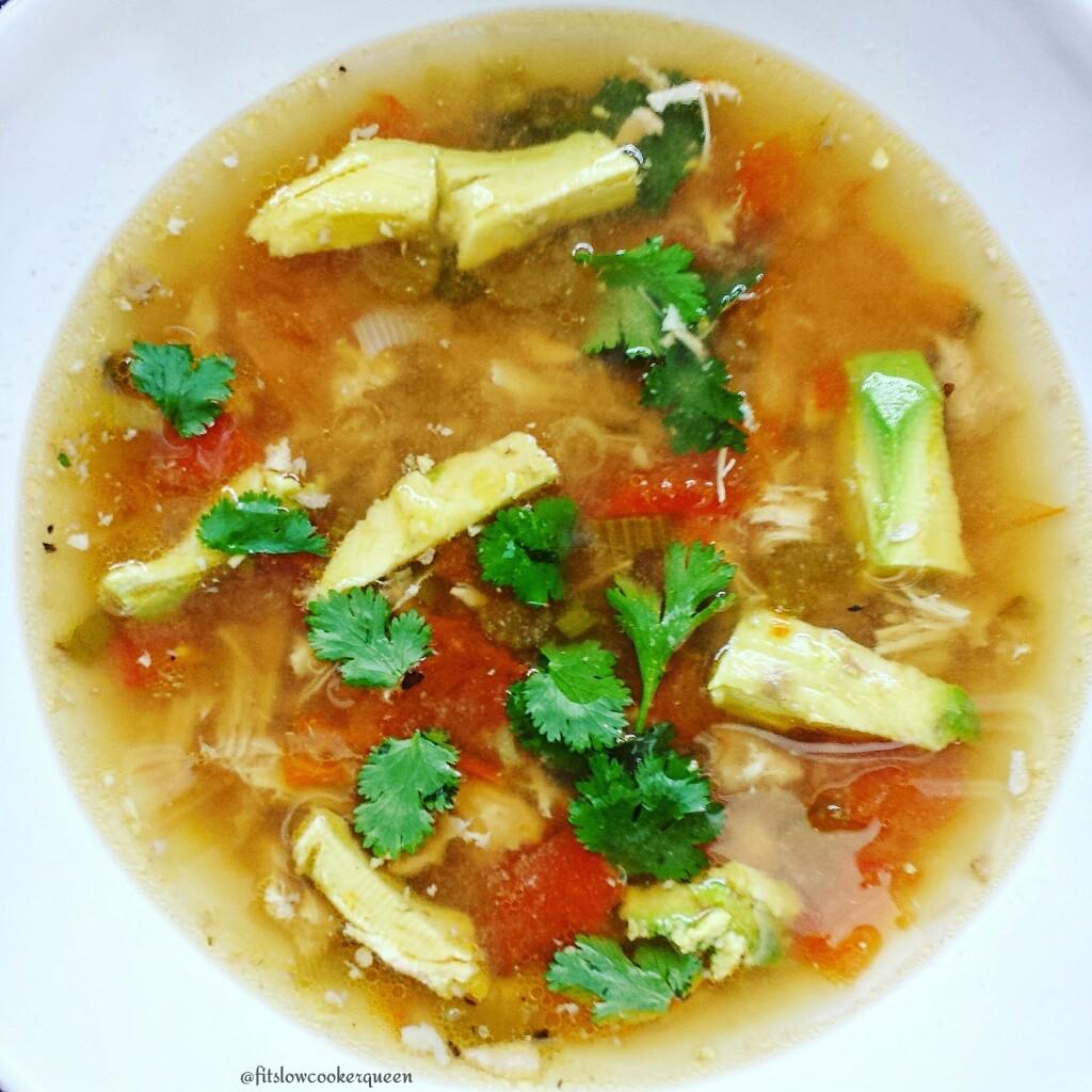 Slow Cooker Chicken Avocado Soup