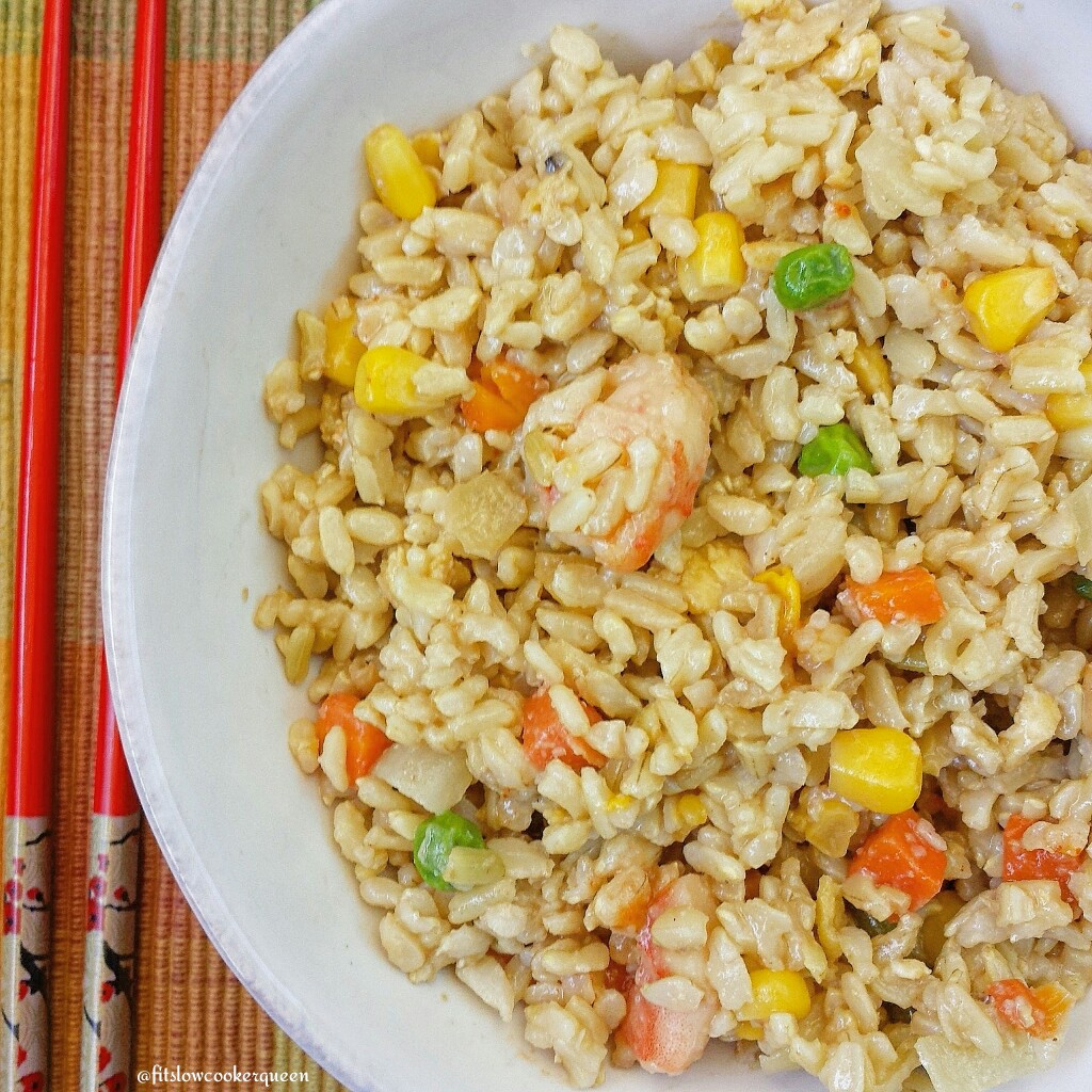 Shrimp 'Fried' Brown Rice