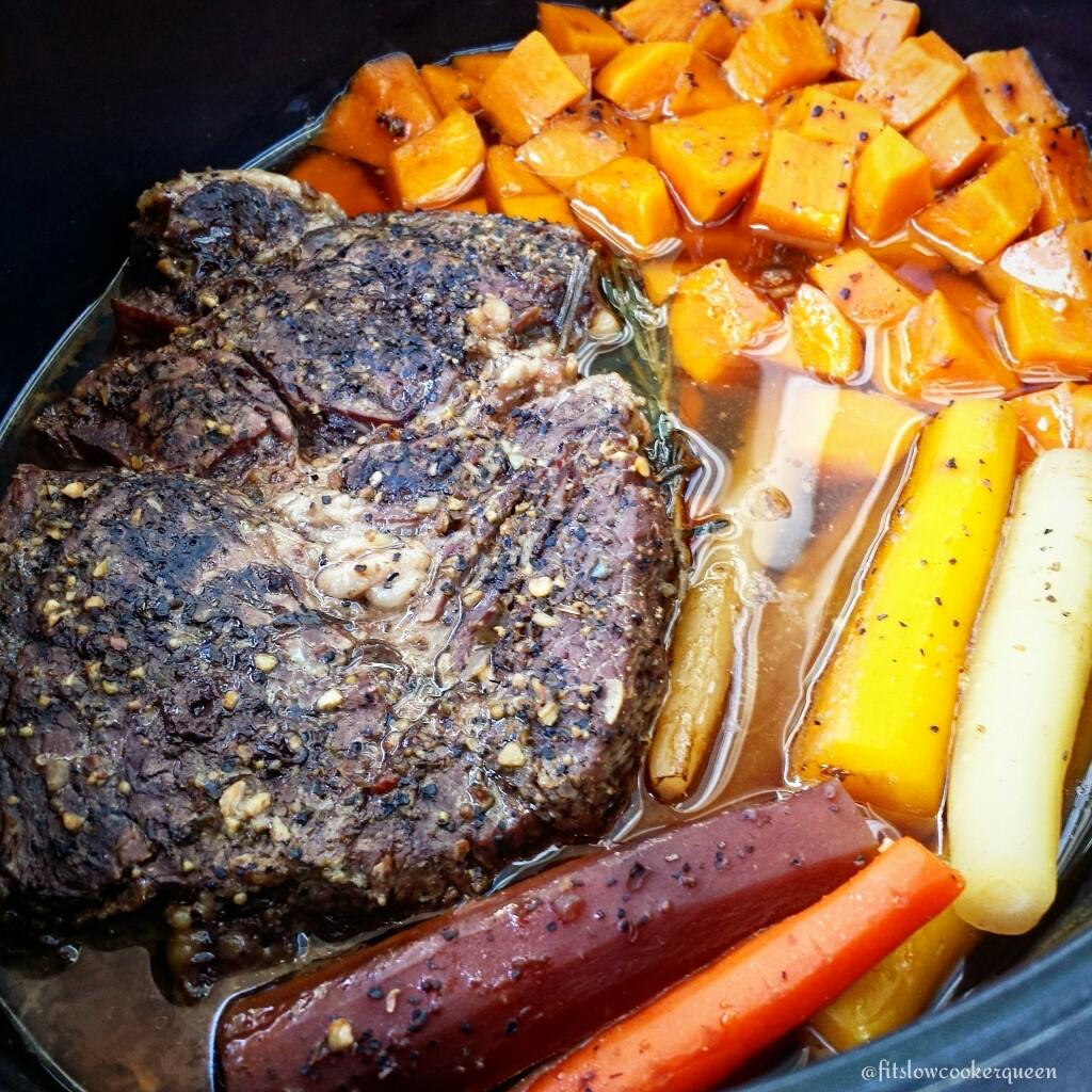 5-Ingredient Slow Cooker Easy Pot Roast