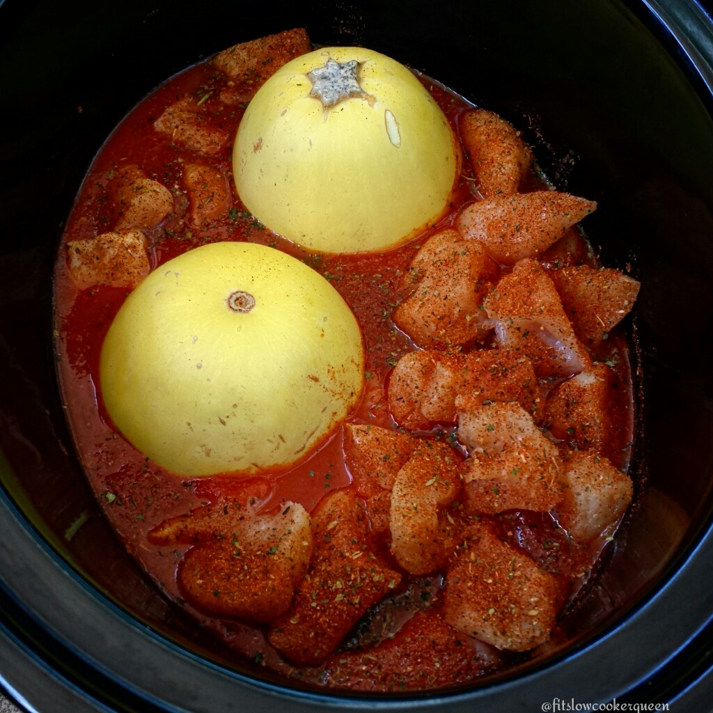 Slow Cooker Spaghetti Squash & Chicken