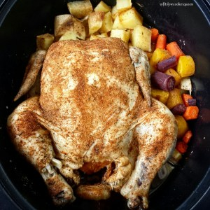 5-Ingredient Slow Cooker Whole Chicken Paleo Pot