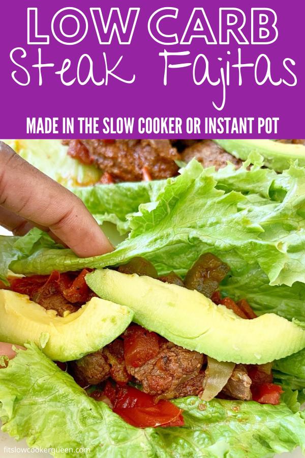 {VIDEO} 5-Ingredient Slow Cooker/Instant Pot Steak Fajitas (Low-Carb, Paleo, Whole30)