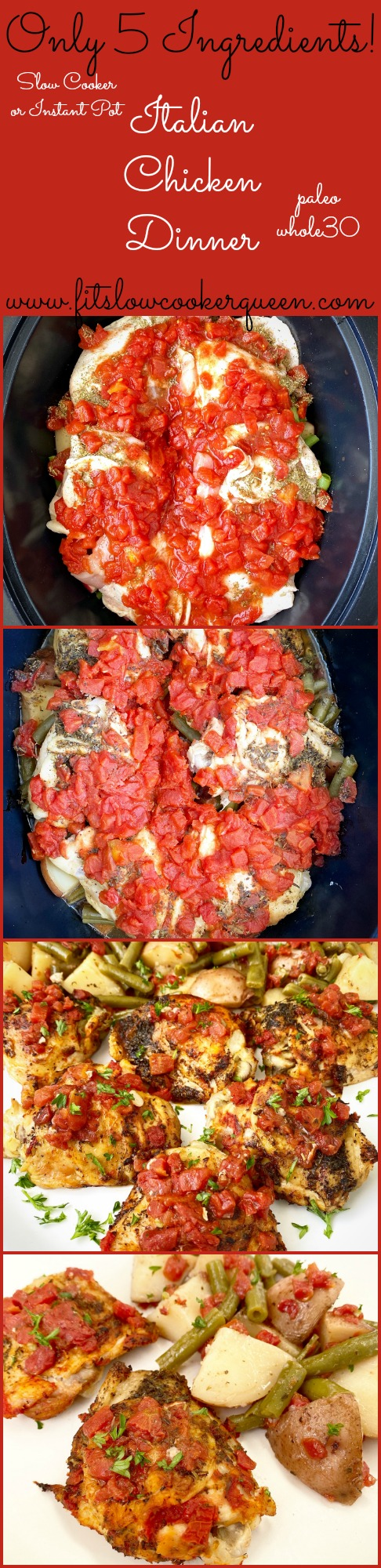 another pinterest pin for 5-Ingredient Slow Cooker_Instant Pot Italian Chicken Dinner (Paleo, Whole30)