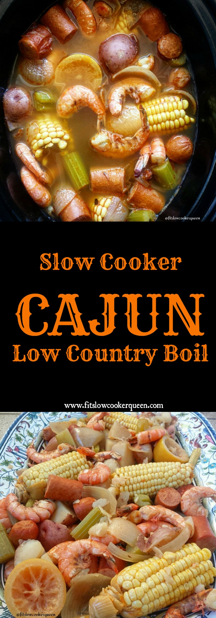 This easy cajun low country boil cooks a couple hours in a slow cooker. Simple yet packed full of flavor you can serve this year-round.