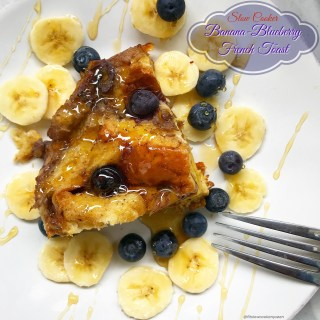 Slow Cooker Banana-Blueberry French Toast