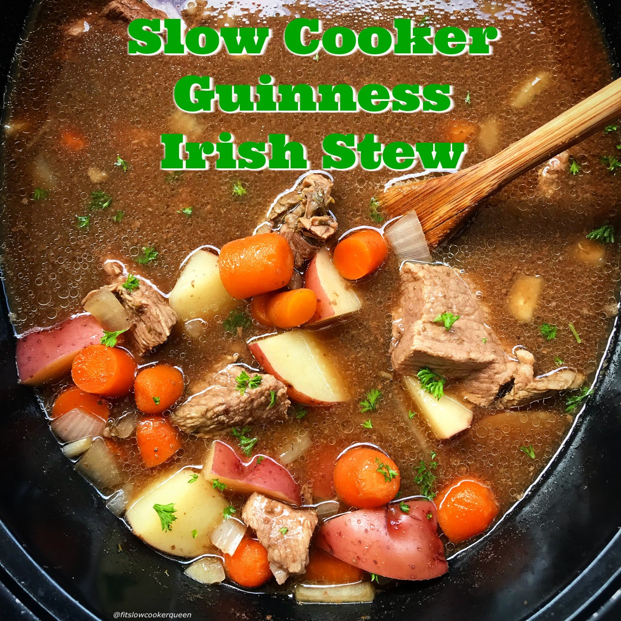 Guinness is the perfect addition to this hearty Irish stew. Using lamb or beef, this slow cooker recipe is simple comfort food at it's finest.