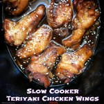 A simple homemade paleo teriyaki sauce slow cooks with chicken wings in this easy slow cooker recipe. This is a great everyday appetizer or game-day snack.