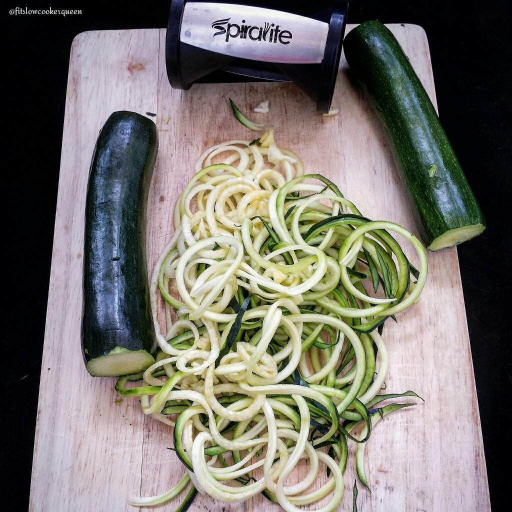 Slow Cooker Zoodles with Meat Sauce