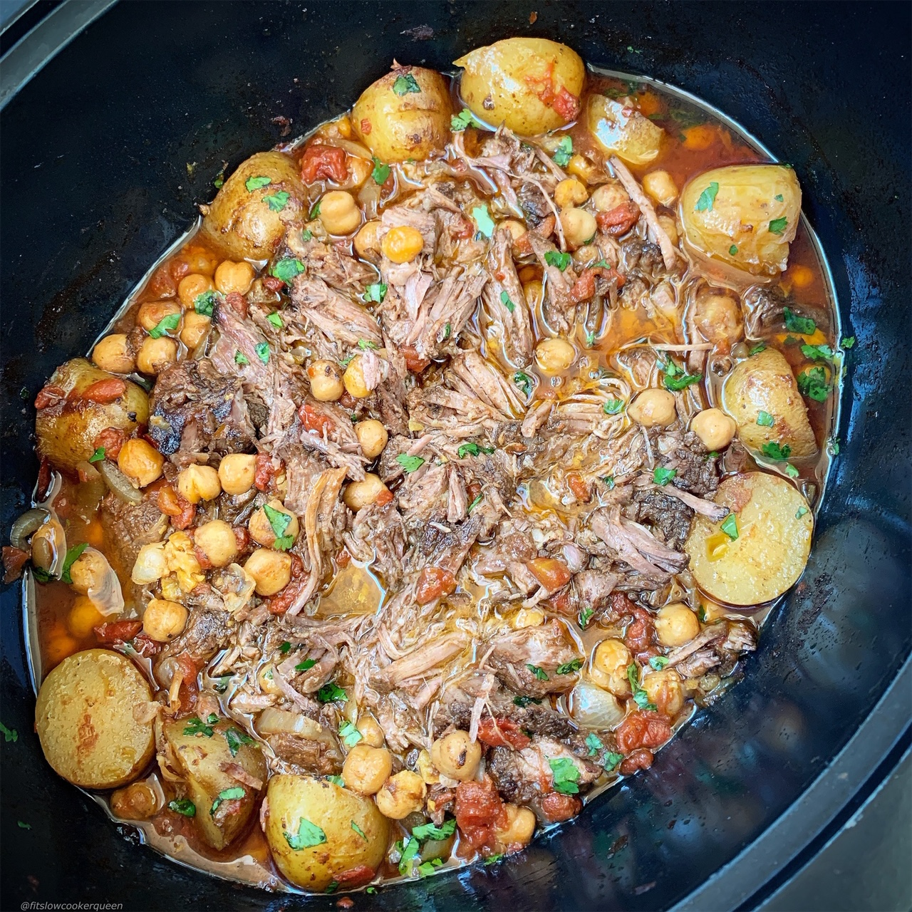Moroccan flavors slow cook with beef or lamb in this aromatic and flavorful roast recipe. Make this in your slow cooker or Instant Pot (1)