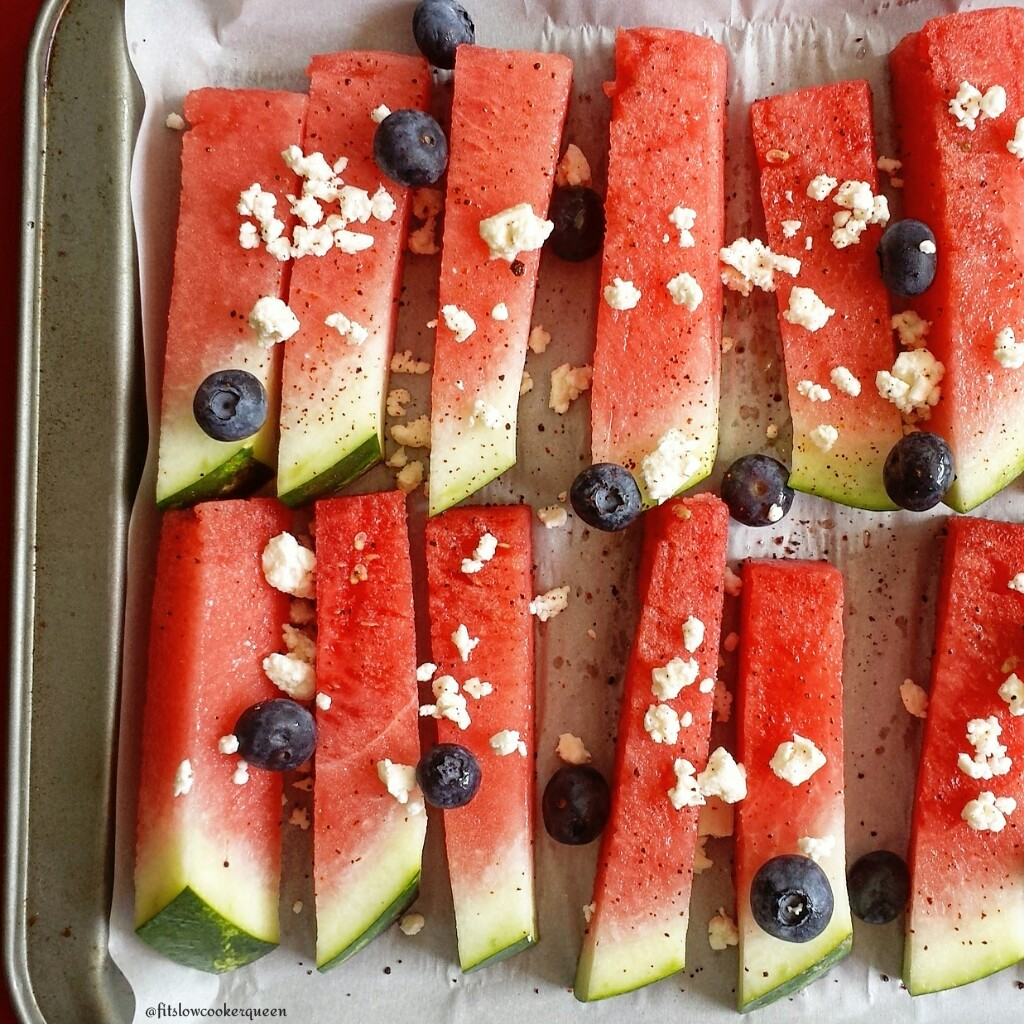 Watermelon, Feta and Blueberry
