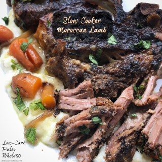 Slow Cooker Moroccan Lamb (Low-Carb, Paleo, Whole30)