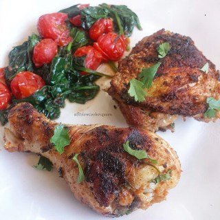 Thai Grilled Chicken with Spinach & Tomatoes