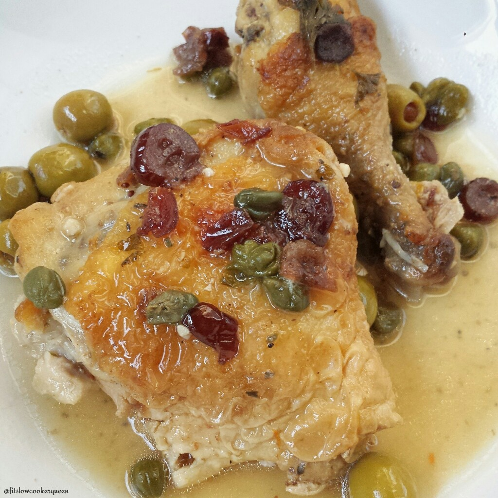 Slow Cooker Chicken, Olives & Capers