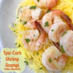 This low-carb shrimp scampi recipe is not just healthy being both paleo and whole30 too, it's done in less than 30 minutes!