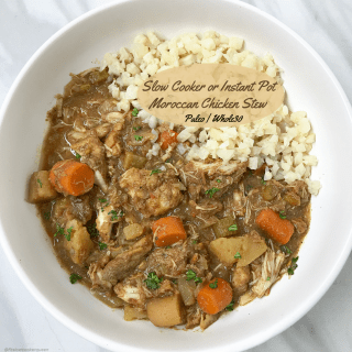 Slow Cooker/Instant Pot Moroccan Chicken Stew (Paleo,Whole30)