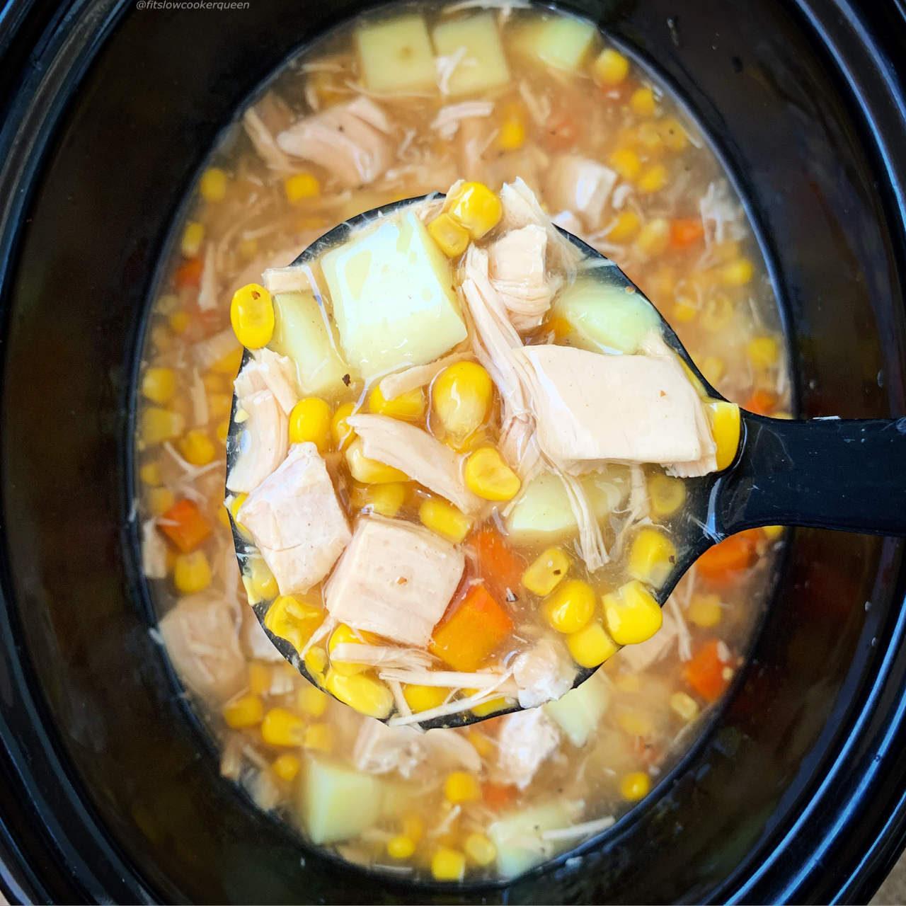 Whether it's Thanksgiving or not, toss your leftover turkey in the slow cooker or Instant Pot for this easy turkey corn chowder recipe.
