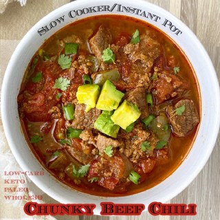 cover pic Slow Cooker Chunky Beef Chili (PaleoWhole30)