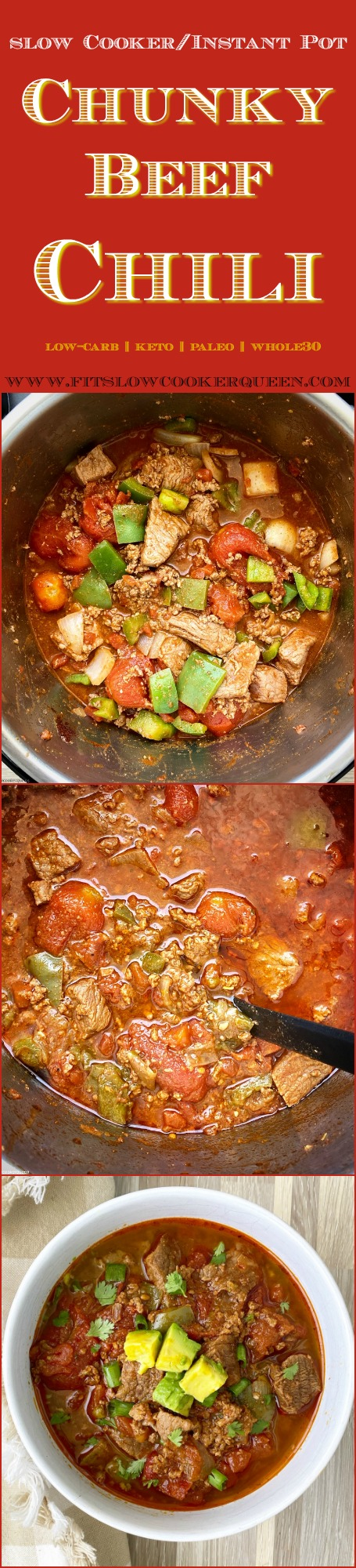 another pinterest pin for Slow Cooker Chunky Beef Chili (Paleo_Whole30)