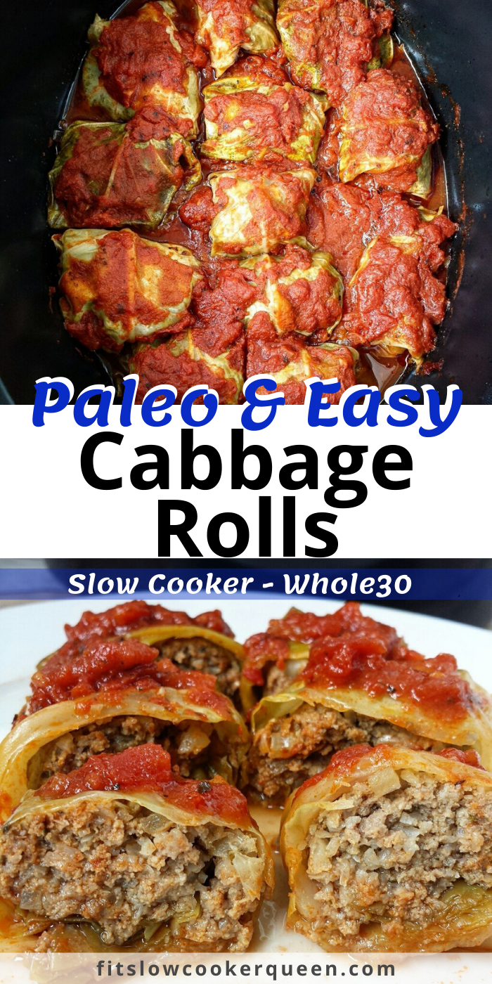 Slow Cooker/Instant Pot Paleo Cabbage Rolls (Low-Carb, Whole30)