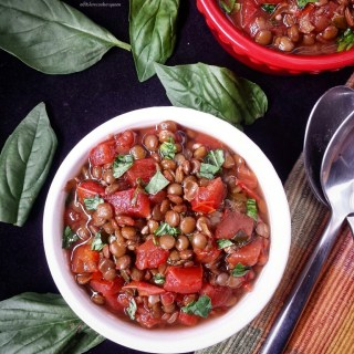 Slow Cooker Bruschetta Lentil Stew