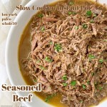 cover pic for Instant PotSlow Cooker Seasoned Beef (Low-Carb, Paleo, Whole30)